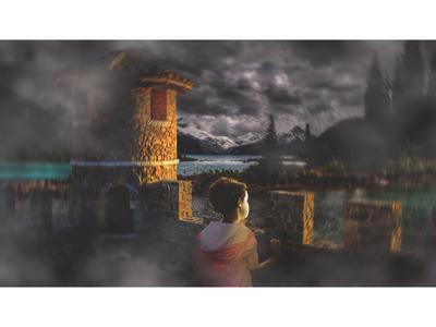Homeful child #1 artwork digital art retouching art direction manipulation
