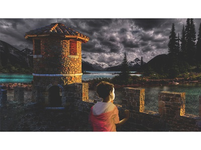 Homeful child #5 manipulation art direction retouching digital art artwork