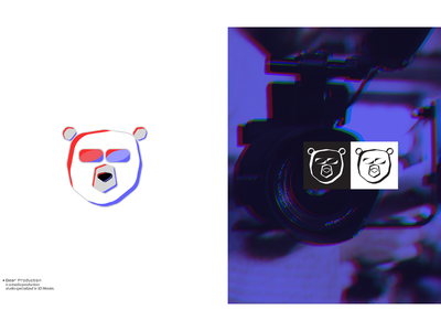 Bear Production visual identity logo collection icons branding logofolio logo