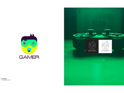 Gamer visual identity logo collection icons branding logofolio logo