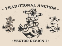 Traditional Anchor Vector Design