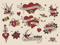 Traditional Tattoo Elements Love Edition