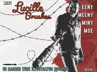 Lucille Barbed Wire Brushes AI