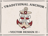 Traditional Anchor2 Vector Design Bad Taste