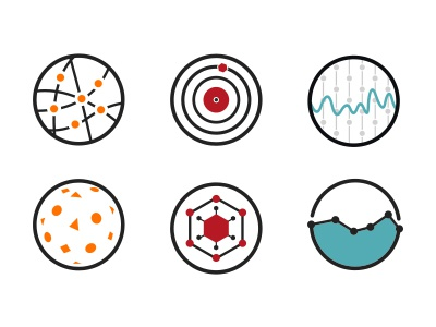 IT Icons icon icons colors data it dashboard science datas graph analytics target picto