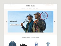 Dribbble here paris homepage
