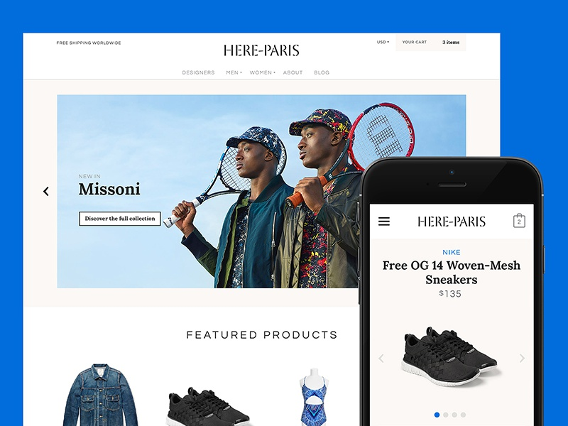 Here-Paris design shop shopfiy fashion e-commerce