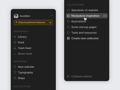 Sidebar ✨ icons interface navigation sidebar menu sidebar ui
