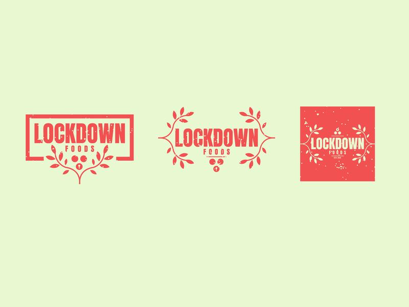 Lockdown Foods clean leaves weeklywarmup dribbble challenge development food and drink app icon lock vegetables plants colours lockdown food brand logo branding design jrdickie