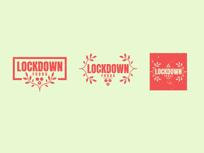 Lockdown Foods clean leaves weeklywarmup dribbble challenge development food and drink app icon lock vegetables plants colours lockdown food brand logo branding design jrdickie