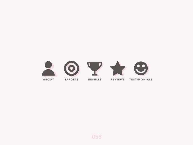 DailyUI #055 Icon Set practice dailyuichallenge icon set dailyui 055 minimal challenge trophy testimonials results reviews targets about dailyui055 clean sketchapp 055 iconset icons dailyui jrdickie
