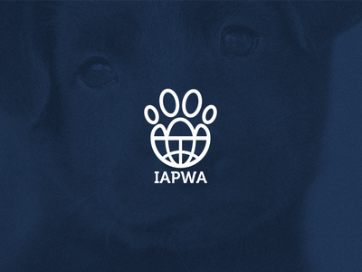 IAPWA Logo jrdickie animal dog graphic branding logo icon design animal friends charity
