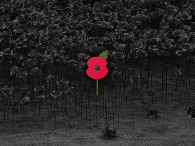 Remembrance Poppy / Blood Swept Lands and Seas of Red history design icon logo tower memorial london flower war poppy