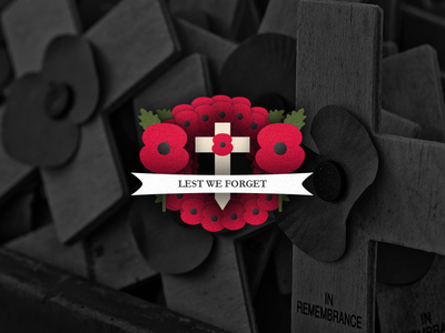 Remembrance Collection wreath war icon logo design cross remembrance flower poppy