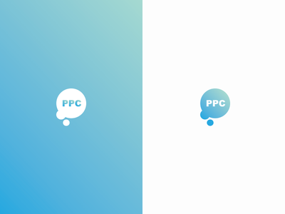 PPC Bubble Logo & Colour Concept gradient pay per click icon water logo branding bubble ppc jrdickie