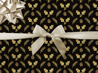 Black & Gold Wrapping Paper