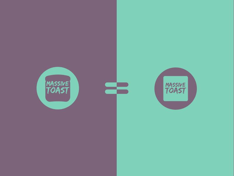 Massive Toast design food symbol icon toast jrdickie branding brand logo typehue