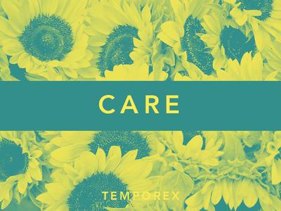 Care by TEMPOREX album artwork sunflower flower music challenge jrdickie typehue temporex duotone record care
