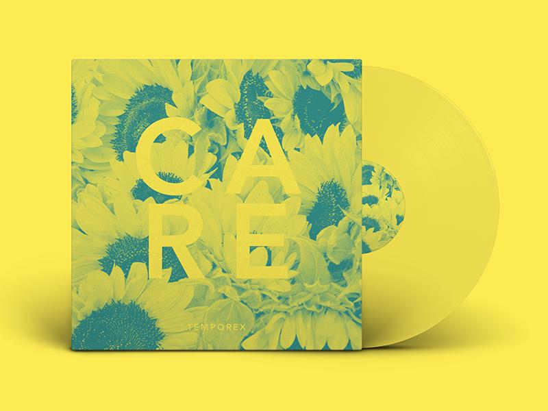 Care By TEMPOREX - Vinyl typehue tempered sunflower vinyl music jrdickie flower duotone challenge care album artwork
