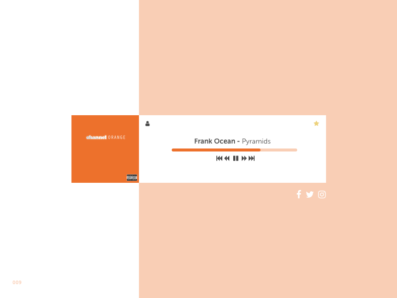 DailyUI #009 Music Player by J R Dickie on Dribbble