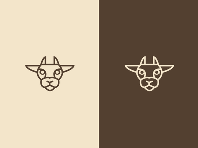 Cow animal wellbeing brand design symbol icon branding jrdickie meat cow vegan
