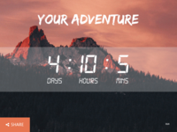 DailyUI #014 Simple Countdown Page