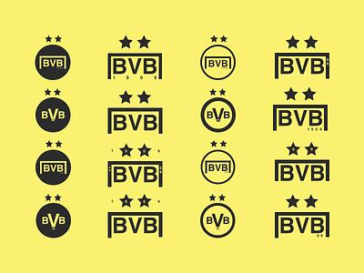 Borussia Dortmund Logo Concepts jrdickie branding brand sketchapp sketch design minimal badge crest symbol logo dortmund