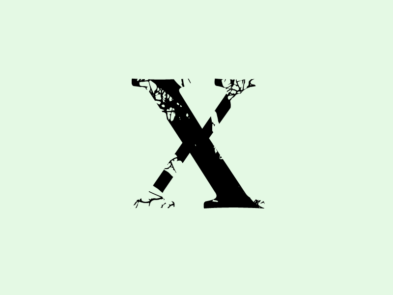 X letters experiment test challenge nature branch tree type 36 days of type lettering 36 days of type 36 lettering letter x text font vector typography design jrdickie