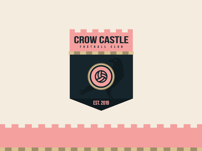 Crow Castle F.C Badge vector illustrator league crest badge club sport football animal challenge pattern castle crow illustration icon brand logo branding design jrdickie