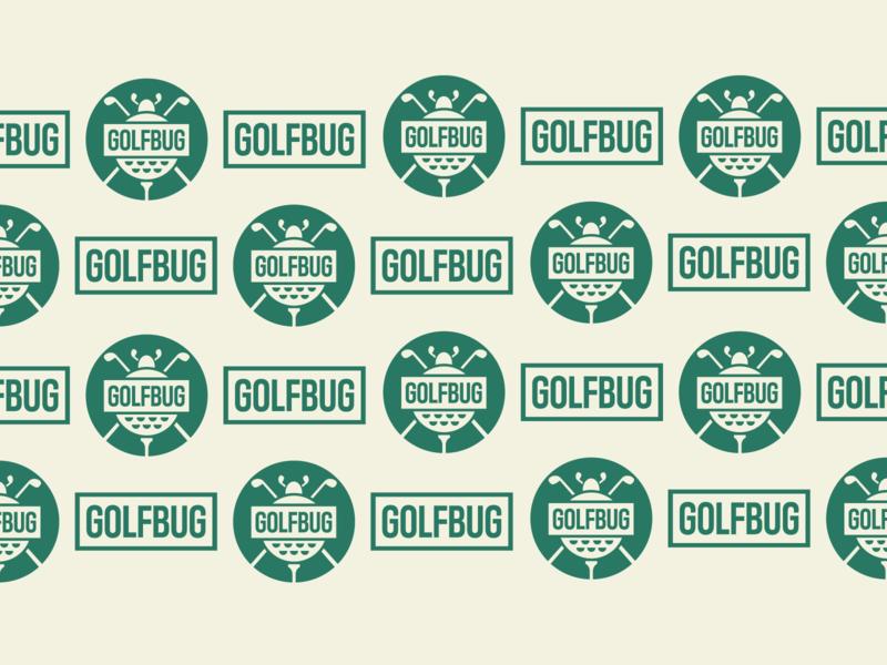 Golfbug Pattern equipment beetle golf ball sports branding font type typography badge concept branding design pattern sport bug golf identity brand logo branding design jrdickie