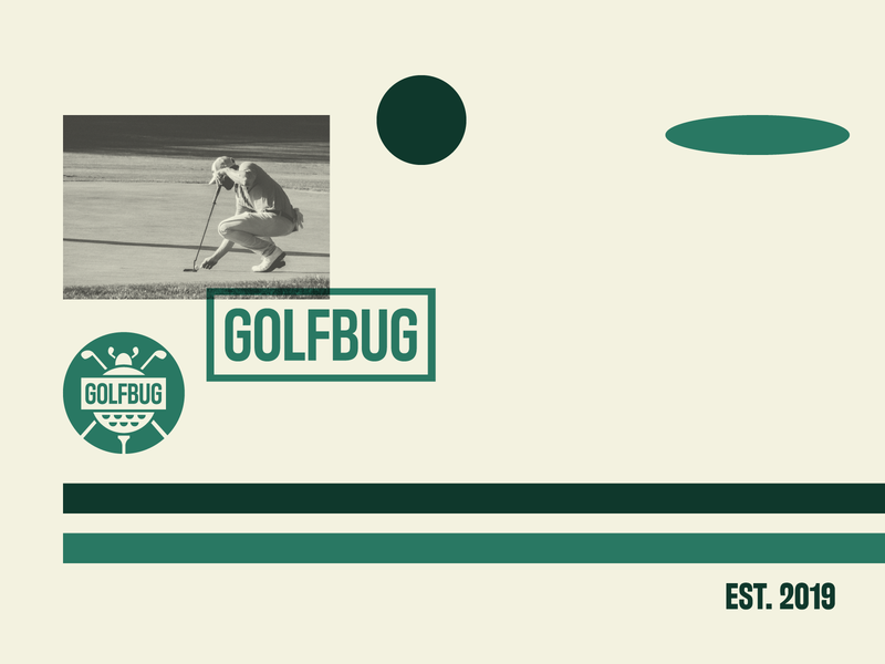 Golfbug Direction badge golfer retro sports branding sports logo project unsplash photo bug golf sports clean typography minimal icon brand logo branding design jrdickie