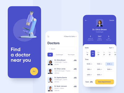 Doctor Appointment App • Concept blue scheduling calendar appointment doctor appointment doctor medical medicine