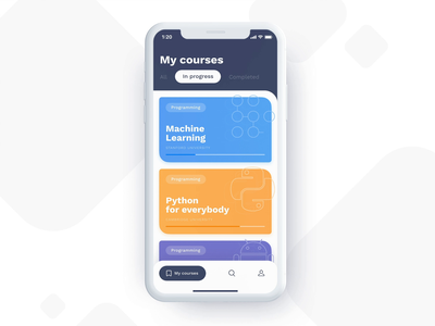Online courses platform 🤓 uplabs animation interaction animation app design futuristic ui flat design education app courses interface design learning app ios ui concept mobile app