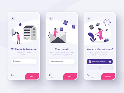 Registration flow for the Healthcare platform figma ui ui concept mobile illustration registration design flat  design mobile app interface design futuristic ui app ios