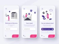 Registration flow for the Healthcare platform