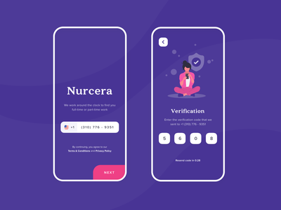 Verification for the Healthcare platform verification ui concept mobile app registration interface design illustration futuristic ui flat design figma design app ios