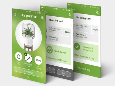 Air purifier - smart home smart home internet of things app iot