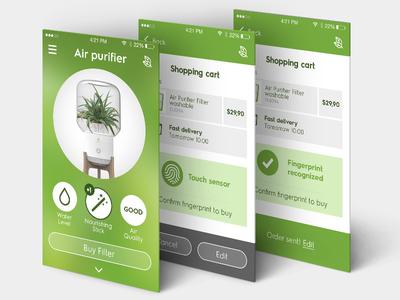 Air purifier - smart home