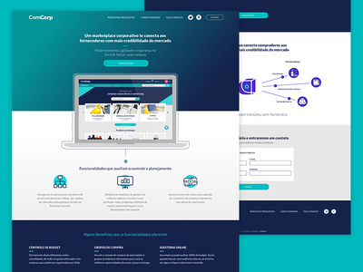 Landing page for a corporate marketplace landing page marketplace