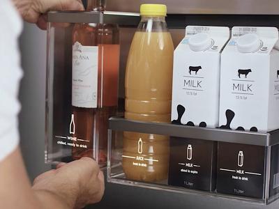 UI for fridge shelf