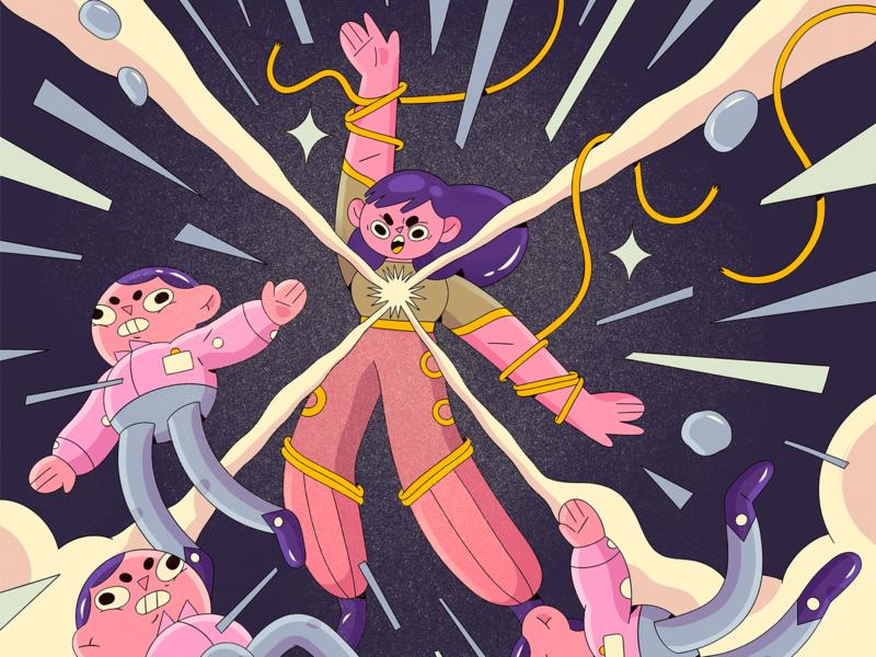 Power draw women in illustration procreate photoshop character design digital illustration digital art illustration