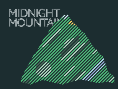 Midnight Mountain ui contrast flat focus mountain landscape green typography