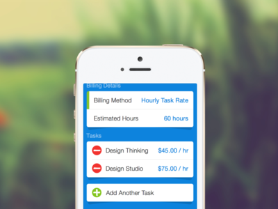 FreshBooks Projects Screen ios7 ui design mobile ios form navigation