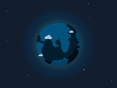 Dark Earth illustration earth dark clouds made in sketch