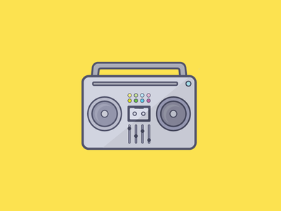 The Sonic Landscape boombox vector illustration