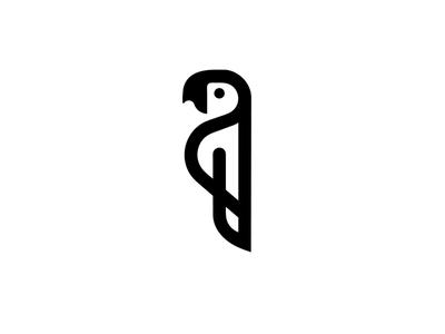 parrot minimal logo parrot bird