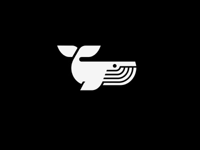 whale mark minimal logo whale