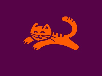 cat brand mark design minimal animal logo cat