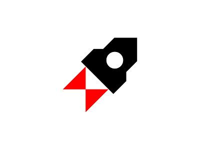rocket logo minimal logo rocket
