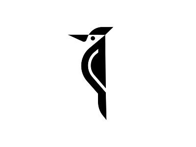 woodpecker minimal logo woodpecker bird